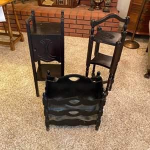Lot # 231 - Mahogany tables and racks