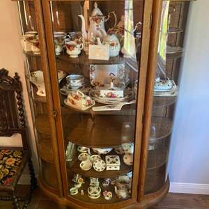 Lot # 241 - Antique China hutch glass panels are in excellent condition