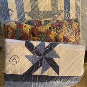 Lot # 281 - Three machines sewn quilts
