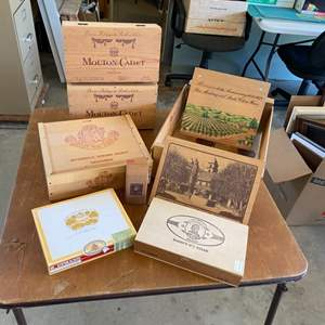 Lot # 297 - Wine and cigar boxes