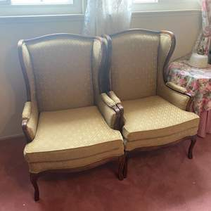 Lot # 302 - Matching wing back chairs