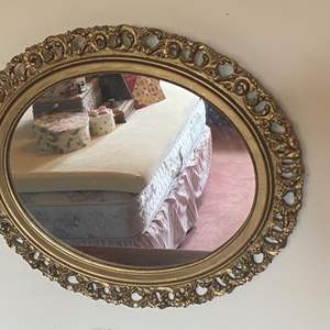 Lot # 308 - Vintage oval mirror