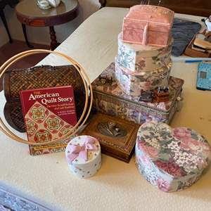 Lot # 324 - Sewing notions and storage boxes