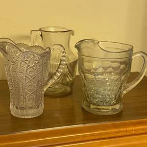 Lot # 330 - Three vintage pressed glass pictures