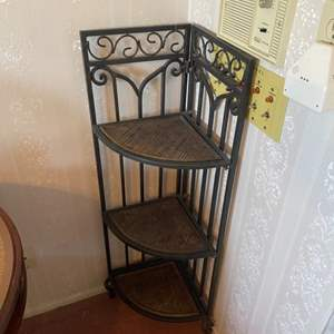 Lot # 335 - Folding corner shelf