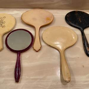 Lot # 338  - Vintage & antique hand mirrors  (2 of 10)