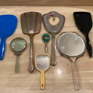 Lot # 340  - Vintage & antique hand mirrors  (4 of 10)