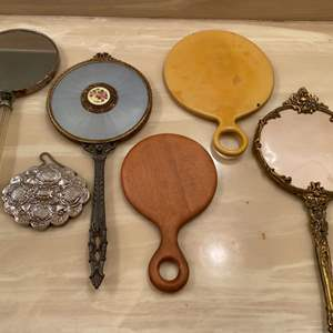 Lot # 342  - Vintage & antique hand mirrors  (5 of 10)