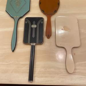 Lot # 343  - Vintage & antique hand mirrors  (6 of 10)