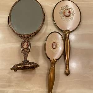 Lot # 345  - Vintage & antique hand mirrors  (8 of 10)