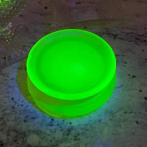 Lot # 351 - Yellow uranium ware base and Other glass pieces