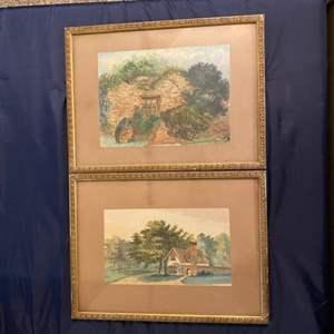 Lot # 354 - Framed original watercolors