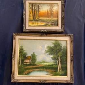 Lot # 355 - Two framed original oil paintings