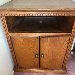 Lot # 362 - Solid wood cabinet