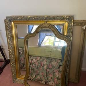 Lot # 364 - vintage mirrors and artwork