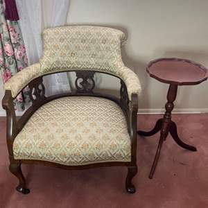 Lot # 375 - Antique chair with table