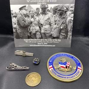 Lot # 387 - Military memorabilia some Sterling