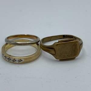 Lot # 6 - 14 karat gold rings (8.0g)