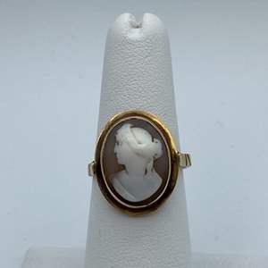 Lot # 9 - 14 karat gold victorian cameo ring