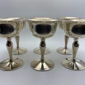 Lot # 24 - Jessop sterling goblets (675g) includes weighted base