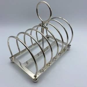 Lot # 29 - Sterling bread slice holder (169.4g)