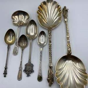 Lot # 30 - Sterling collectible spoons (235.1g)
