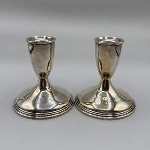 Lot # 40 - Empire sterling candle sticks (544g weighted)