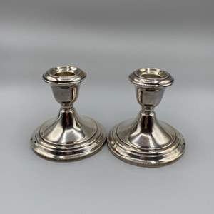Lot # 41 - Gorham sterling candle sticks (466g weighted)