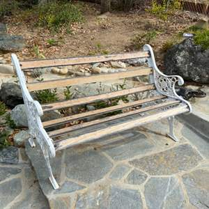 Lot # 44 - Iron bench
