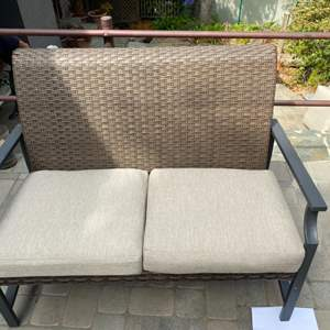 Lot # 45 - Bench with cushions