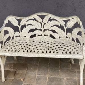 Lot # 50 -  Vintage cast aluminum bench