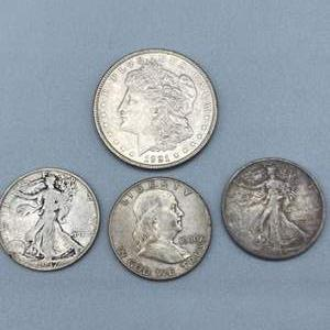 Lot # 90 -  4 Silver coins