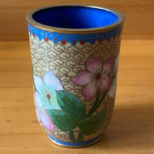 Lot # 98 -  Cloisonné cup in excellent condition
