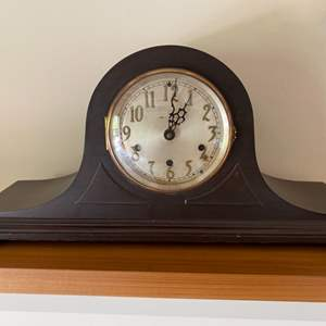 Lot # 104 - Tambour style antique case with high-grade quartz Westminster chime movement