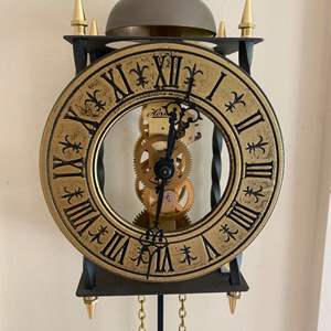 Lot # 106 - Hermle Tempus Figit lantern style one weight wall clock with bell strike