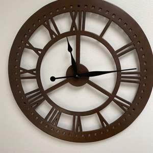 """Lot # 108 - 24"""" ornamental wall clock"""