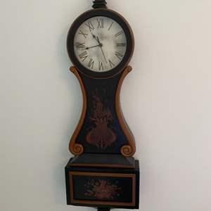 Lot # 110 - Quartz banjo style wall clock