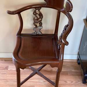 Lot # 119 - Mahogany corner chair