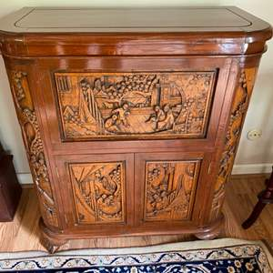 Lot # 121 - Beautifully hand carved bar