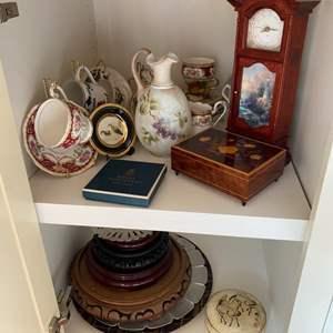 Lot # 135 - Cupboard full of Decor items