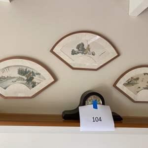 Lot # 141 - Three framed fans