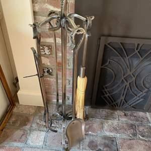 Lot # 142 - Fireplace tool set