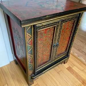 Lot # 154 - Indian motif cabinet