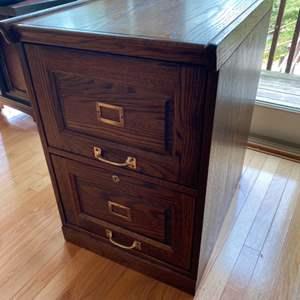 Lot # 156 - Oak legal filing cabinet