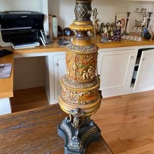 Lot # 161 - Asian motif lamp