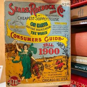 Lot # 164 - 1900 Sears catalog and other books