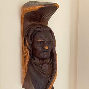 Lot # 168 - Carved Indian bust
