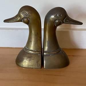 Lot # 173 - Brass duck bookends