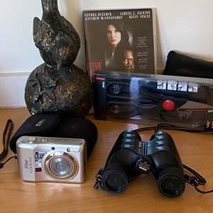 Lot # 176 - Binoculars, camera and office items