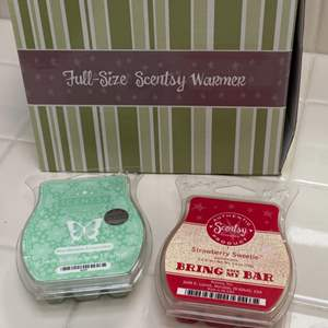 Lot # 181 - New in box Scentsy burner with wax